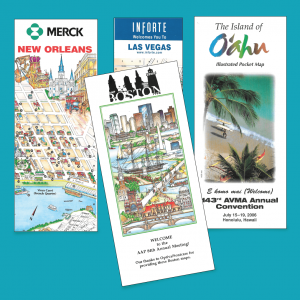 We have artwork ready for all the top U.S. convention cities, including New Orleans, Las Vegas, Orlando, Dallas, and San Antonio.