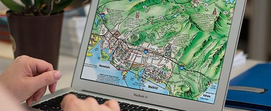 Use TGI's interactive online maps on a visitors bureau website or hotel website to reach the pre-arrival market