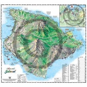 Back side of Big Island Illustrated Pocket Map