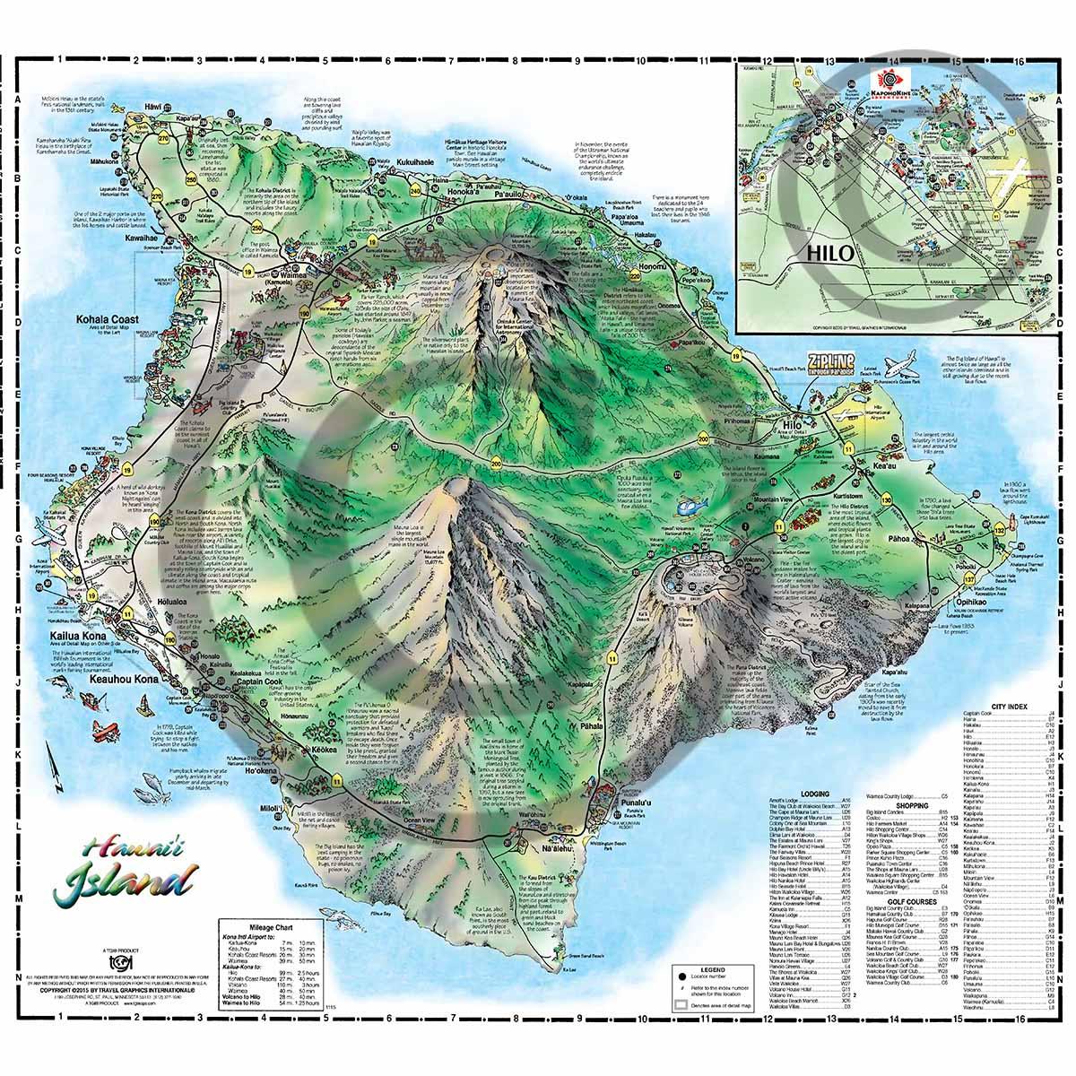 Map Of Big Island Hawaii Roads