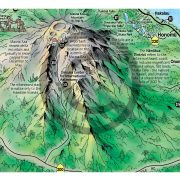 Closeup of Big Island Illustrated Pocket Map