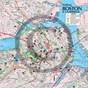 Boston downtown detail from Boston Walking Map