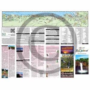 Front side of Big Island Illustrated Pocket Map