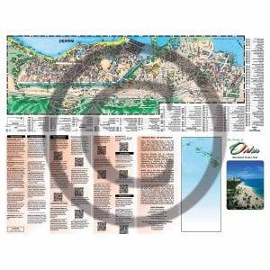 Front side of Oahu Illustrated Pocket Map