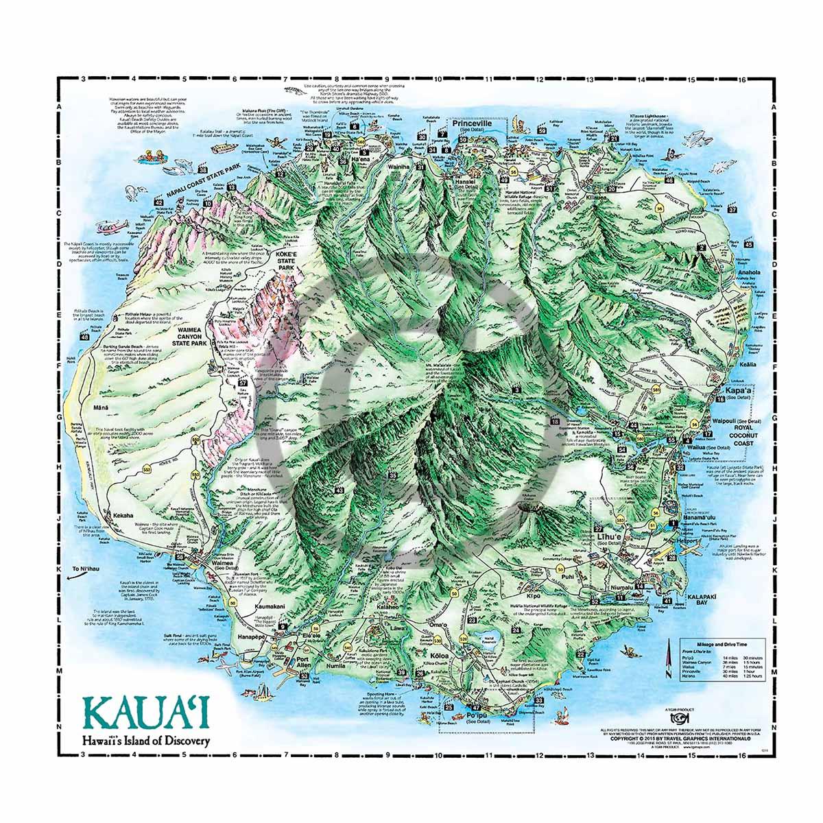 Kauai Pocket Map on kin map, kawasaki map, martin map, waldorf map, sacred ridge site map, iwate prefecture map, iwaizumi map, baldwin map, marshall map,