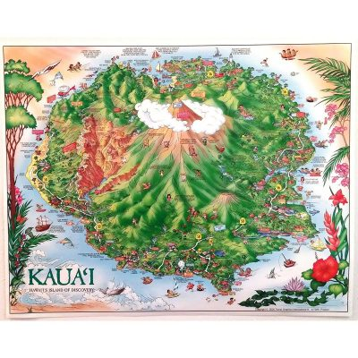 Kauai poster, suitable for framing