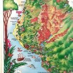 TGI's illustrated poster of Kauai is educational as well as beautiful.