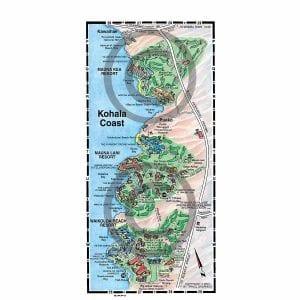 Kohal Coast detail map from Big Island map