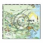 Lihue detail map from Kauai map