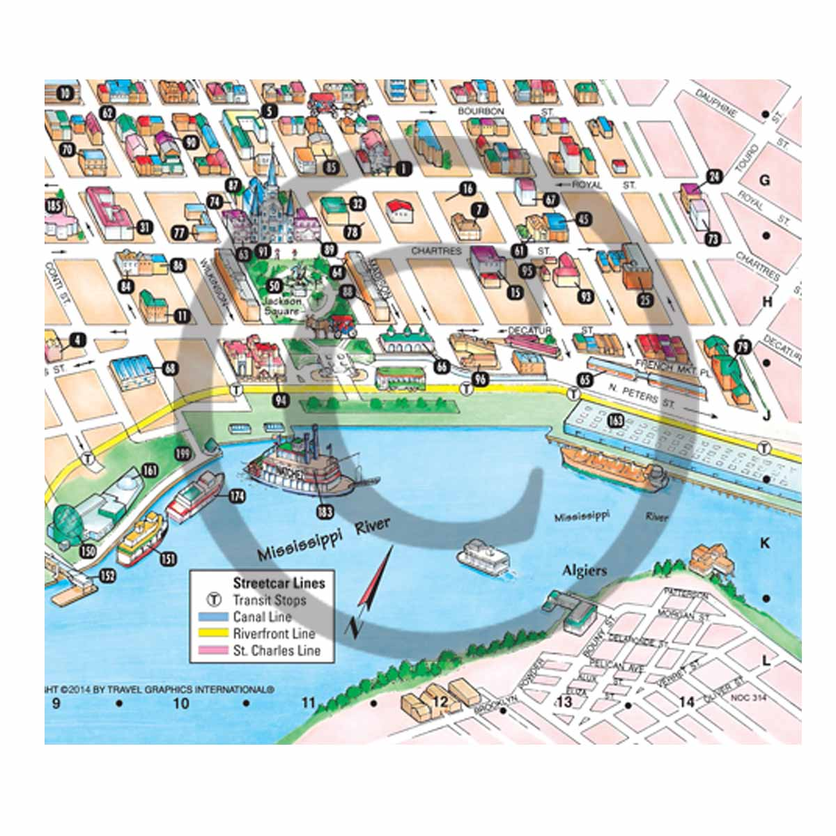 It's just a picture of Declarative Map of New Orleans French Quarter Printable