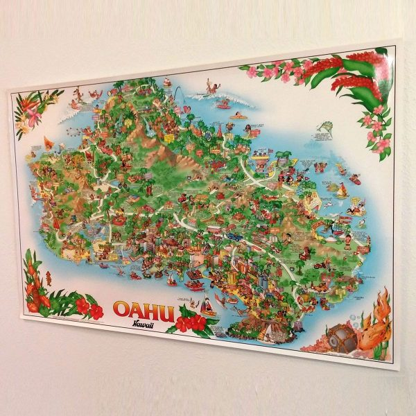 Oahu poster, suitable for framing