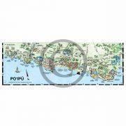 Poipu detail map from Kauai map