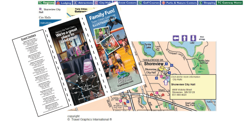 CVB uses customized print plus customized online maps