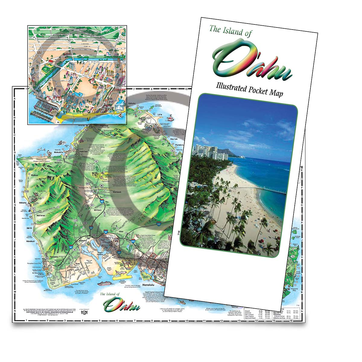 Oahu Pocket Map (English) on tahiti map, waikiki map, pearl harbor map, montana map, niihau map, hawaii map, south carolina map, colorado map, molokai map, honolulu map, haleiwa map, hanauma bay map, maui map, hilo map, kauai map, big island map, kahoolawe map, california map, kaneohe bay map, lanai map,