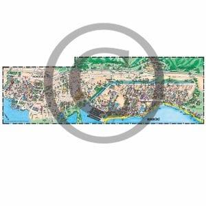 Waikiki and Honolulu detail map from Oahu map