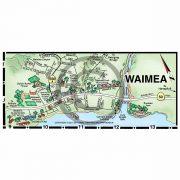 Waimea detail map from Kauai map